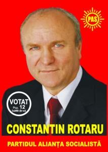 Afis electoral care imbie la votarea tovarasului Constantin Rotaru. FOTO:www.constantinrotaru.ro