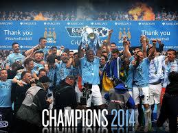 Manchester City exultând după triumful din Premier League. FOTO: http://wallwidehd.com/