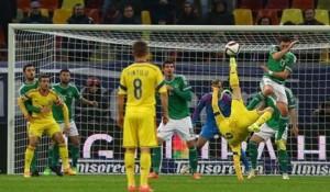 Aspect din confruntarea România-Irlanda de Nord, scor final 2-0. FOTO: www.mondonews.ro